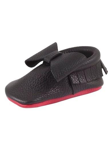 Moots Moots Siyah Fiyonklu Kırmızı Taban Ayakkabı Siyah